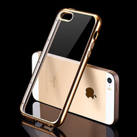 Luxury Transparent Silicone Case For iPhone 5S 5 S SE iPhone5 5SE High Quality Ultra Thin Phone Back Cover Coque Gold TPU Fundas