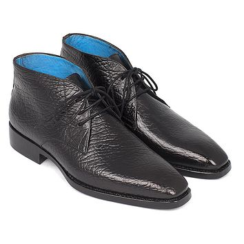 Paul Parkman Men's Chukka Black Boots (ID#FG55-BLK)