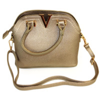Metallic Mini V Satchel Bag