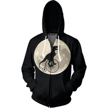 Space T Rex Zip Up Hoodie