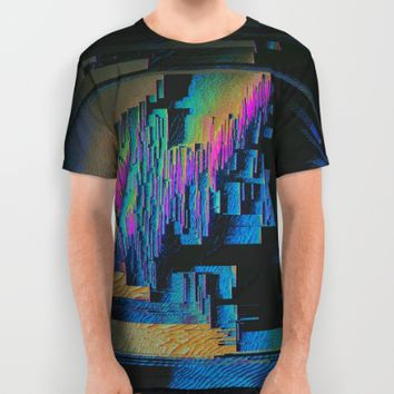 Bismuth Crystal All Over Print Shirt by Ducky B