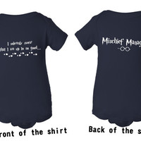 I solemnly swear that I am up to no good Baby Onesuit - Harry Potter Inspired Marauder's Map Mischief Managed Newborn Birthday Gift Babies