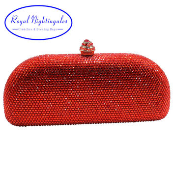 2017 Special Crystal Diamond Hard Cased Evening Purse and  Box Clutches Crystal Evening Bag Black/Red/Green/Royal Blue/Gold