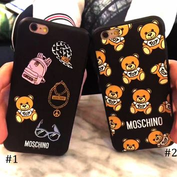 Moschino 2018 new iphonex teddy bear all-inclusive protective case F0627-1