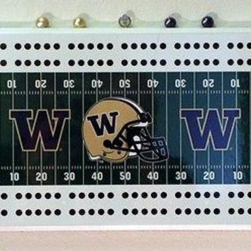 Univ. of Washington Huskies Football Cribbage Board