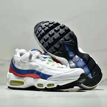 NIKE AIR MAX 95 2018 autumn and winter models wear-resistant non-slip shock absorption casual running shoes white