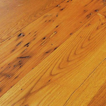 """Wormy Chestnut - Antique Reclaimed Hardwood Flooring - Solid Wood - 3/4"""" - T&G"""