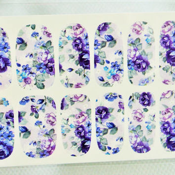 Weddings, Nails, Nail Design, Womens, Floral nail wrap, Garden wedding, Bridal, Nail art, Nail wrap, water transfer, Simple Nails