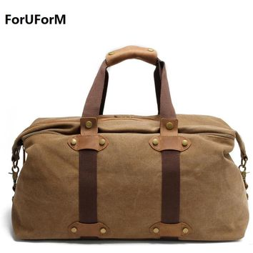 Large Capacity Men Hand Luggage Travel Duffle Bags Canvas Weekend Shoulder Bags Multifunctional Overnight Travel Bags LI-1683