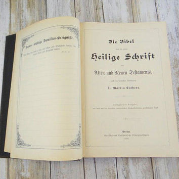German Bible by Martin Luthers from 1924, Hardcover