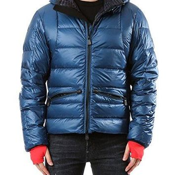 Wiberlux Moncler Mouthe Men's Hooded Two-Way Zip Front Down Jacket