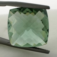 Green Amethyst: 16.33ct Square Shape Gemstone
