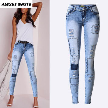 Pop Slim Pencil Pants Women Jeans