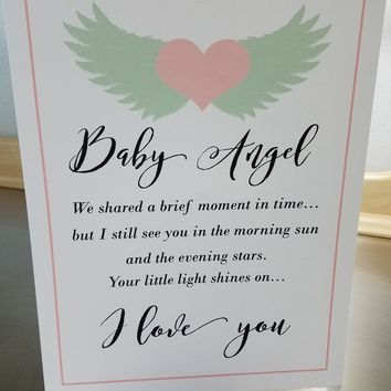 Miscarriage gift art print unframed baby loss poster 8x10 wall art