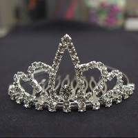 Wedding Rhinestone Tiara Comb Hairpiece