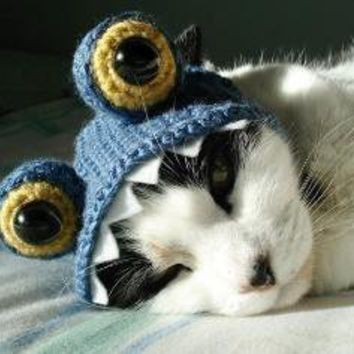 pet hat monster by xmoonbloom on Etsy