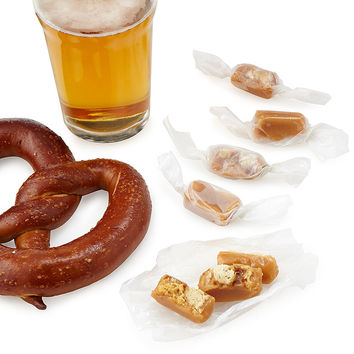 Beer and Pretzel Caramels | caramels, beer candy