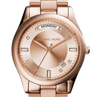 Women's Michael Kors 'Colette' Round Bracelet Watch, 34mm - Rose Gold