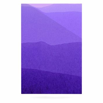 "Iris Lehnhardt ""Gradient Landscape"" Purple Pink Abstract Nature Painting Watercolor Luxe Rectangle Panel"