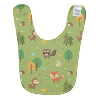 Cute Forest Woodland Animal Pattern For Babies Bibs