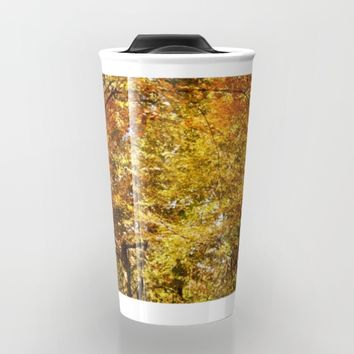 Woods Lake Trail Travel Mug by Theresa Campbell D'August Art