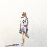 journey . giclee fine art print of watercolor painting