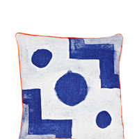 Laguna Blue Tile Pillow