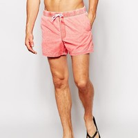 ASOS | ASOS Swim Shorts With Acid Wash In Short Length at ASOS