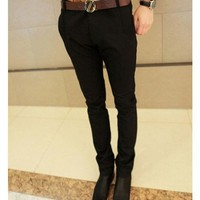 Men Autumn Winter Casual Long Pants Black Cotton Pants M/L/XL/XXL @WH0305b $20.99 only in eFexcity.com.