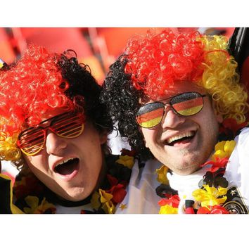 World Cup fans Headgear Explosive head Flag wig celebrates victory Russia  France Brazil USA Italy Germany Switzerland Ireland