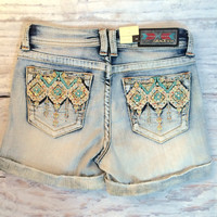 GRACE IN L.A. SOUTHWEST SPRING EASY SHORTS