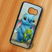 Sunset Lilo and Stitch Frog Beach - Samsung Galaxy S7 S6 S5 Note 7 Cases & Covers