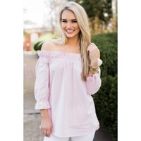 Ravishing Beauty Blush Pink Off The Shoulder Top