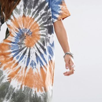 Reclaimed Vintage | Reclaimed Vintage Oversized T-Shirt Dress In Tie Dye at ASOS