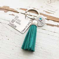 Custom hand stamped The TASSEL Was Worth The HASSLE graduation keychain class of mortarboard graduation cap monogram grad gift 2015 2016