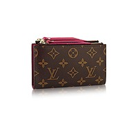 Authentic Louis Vuitton Monogram Canvas Adele Compact Wallet Article: M61271
