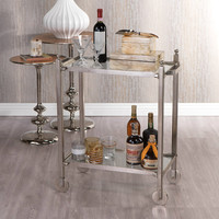 Antique Pewter Rectangular Trolley