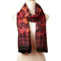 Bobcat Wearable Art Scarf - Designer Scarves | Theodora & Callum