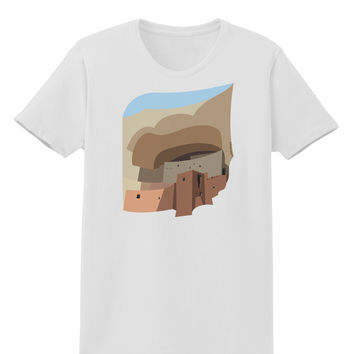 Montezuma Castle Artwork Womens T-Shirt