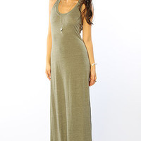 The Racer Maxi Dress in Eco True Military