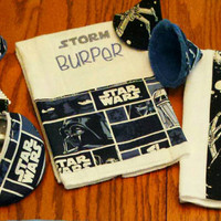 CUSTOM STAR WARS Baby  Burp Cloths Pacifier Pod or PPTeepees Baby Shower Gifts Geeky Nerdy Adorable Star Wars Baby Nursery Your Choice!