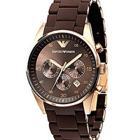 Emporio Armani Men's Chronograph Sport Watch - Brown