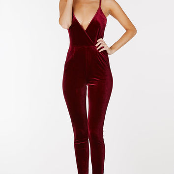 Live Large Velour Jumpsuit