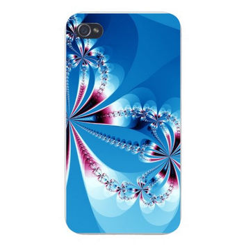 Apple Iphone Custom Case 4 4s Plastic Snap on - Diamond Bows Abstract Artwork