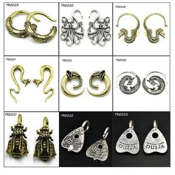 ac DCCKO2Q PAIR Fashion Indian Tribal Earring Spiral Taper Stretcher Piercing Gauge Expander Plugs Body Jewelry Ear Weight