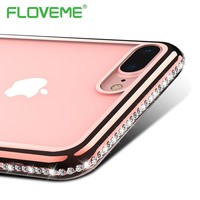 FLOVEME Thin Plated i 5 S SE Phone Case For iPhone 6 6S Plus Cover Case For iPhone 7 Plus Silicone Clear Transparent Glazed Capa