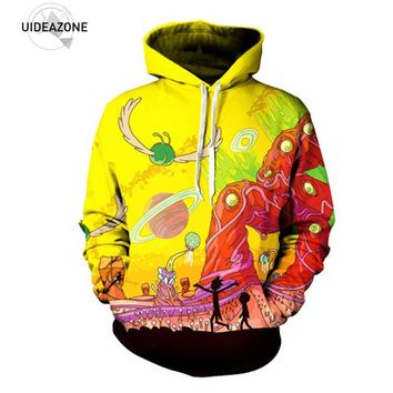 Rick and Morty Alien 3D Printed Hoodies Pullover Hoodie Trippy