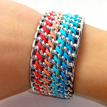 Twisted Summer Designer Bracelet with Chain Thread by GetShackled