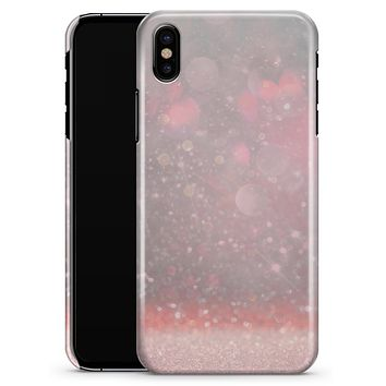 Muted Pink and Grunge Shimmering Orbs - iPhone X Clipit Case