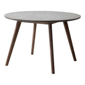 Elite Dining Table Cement & Natural
